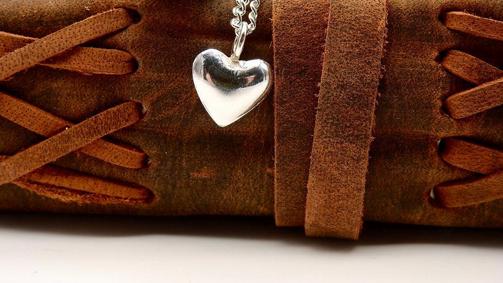 Tiny 3d Silver Heart