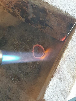 Annealing a ring atChris Lewis Jewellery Design
