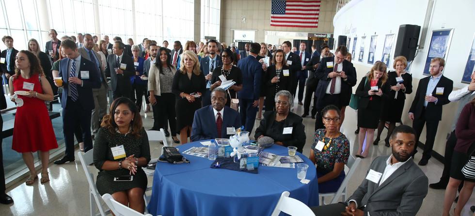 Awardees Speak to Crowd