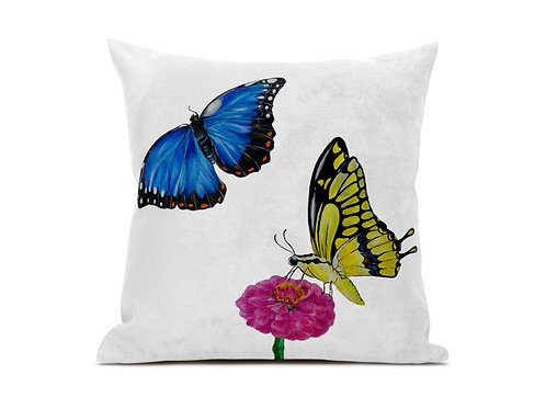 Luxury vegan suede Butterfly cushion.