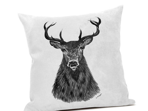 Grey Stag Cushion