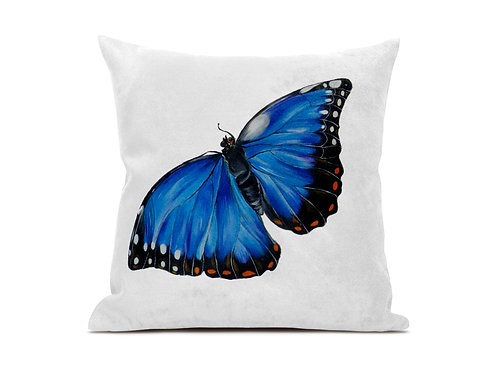 Butterfly luxury vegan suede cushion.