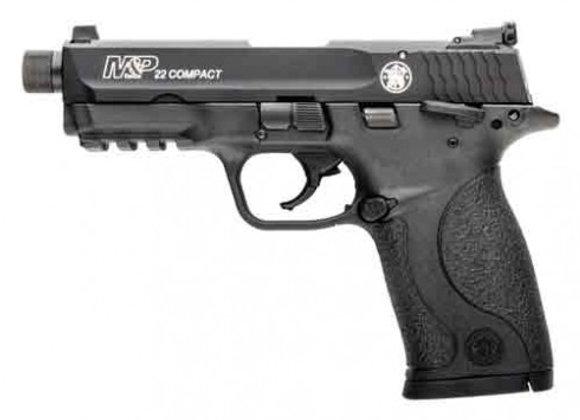 "S&W M&P22 COMPACT .22LR 3.56"" AS 10-SHOT MATTE BLK THREADED"