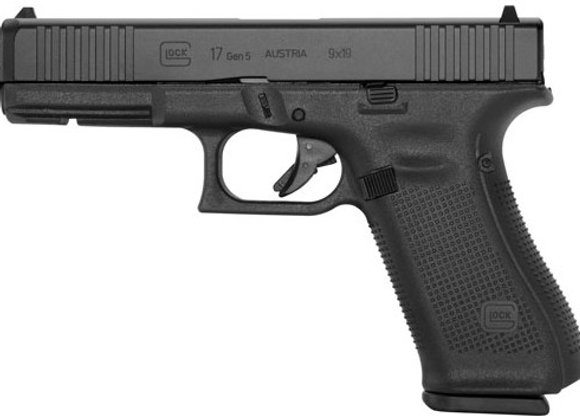 GLOCK 17 9MM GEN5 GLOCK NIGHT SIGHTS 17-SHOT BLACK