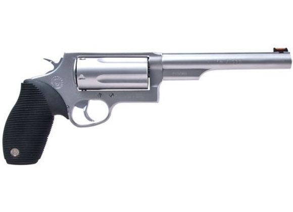 "TAURUS JUDGE .45LC/410-3"" 6.5"" FS 5-SHOT STAINLESS RUBBER"