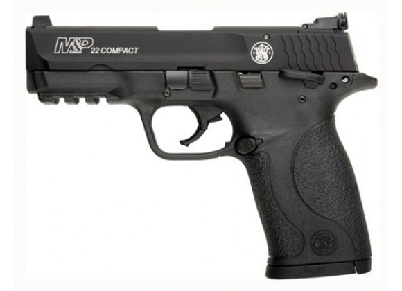 "S&W M&P22 COMPACT .22LR 3.56"" AS 10 SHOT W/SAFETY MATTE BLK"