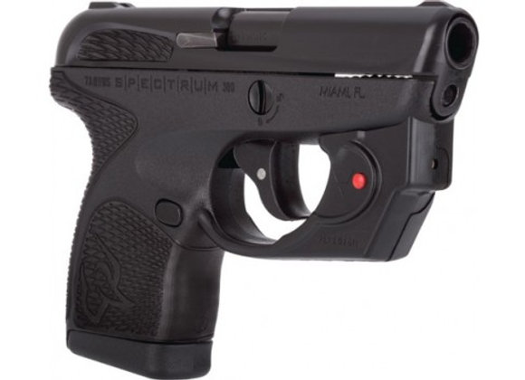 """TAURUS SPECTRUM .380ACP 2.8"""" FS 7-SHOT BLK W/VIRIDIAN LASER"""