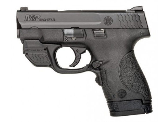 S&W SHIELD M&P40 .40S&W FS W/GREEN LASER W/THUMB SAFETY