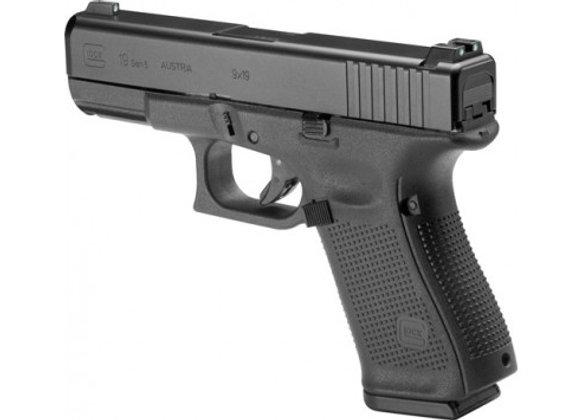GLOCK 19 GEN5 9MM NIGHT SIGHT 15-SHOT BLACK