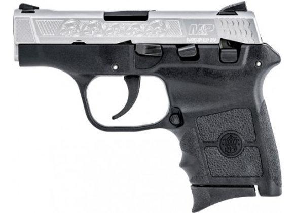 "S&W BODYGUARD .380ACP 2.75"" FS 6-SHOT TWO-TONE ENGRAVED W/CAS"