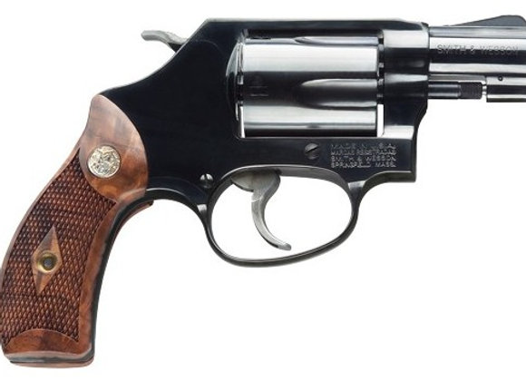 "S&W 36 CLASSIC .38SPL+P 1.875"" FS BLUED CHECKERED WOOD"