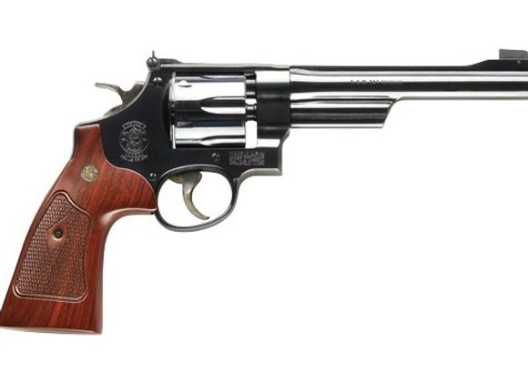"S&W 27 CLASSIC .357 6.5"" AS BLUED CHECKERED WOOD GRIPS"