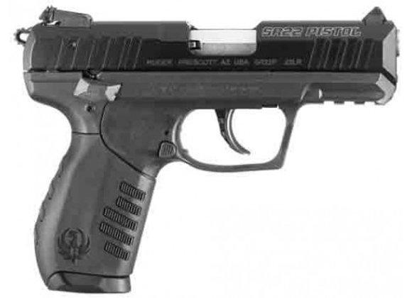 """RUGER SR22PB .22LR 3.5"""" AS 10-SHOT BLUED/BLACK POLYMER *"""