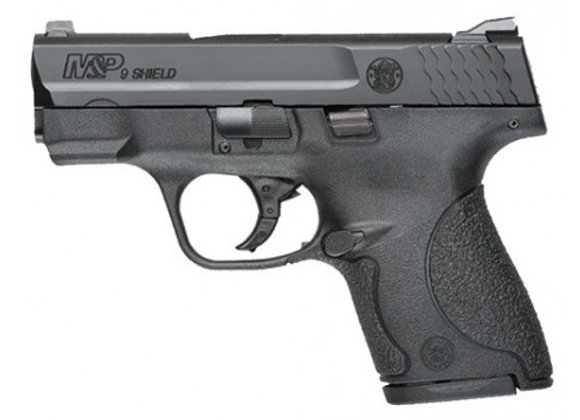 S&W SHIELD M&P9 9MM LUGER FS BLACKENED SS/BLK NO THUMB SAFE