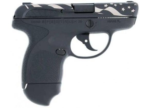 """TAURUS SPECTRUM .380ACP 2.8"""" FS 6-SHOT BLACK W/US FLAG TALO"""