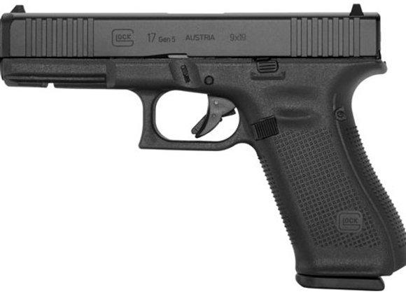 GLOCK 17 9MM GEN5 FIXED SIGHT 17-SHOT BLACK