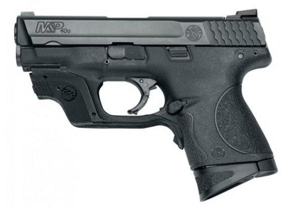 "S&W M&P40C .40SW 3.5"" FS 10-SH BLACK W/GREEN CTC LASER"