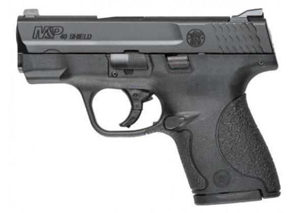 S&W SHIELD M&P40 .40SW FS BLACKENED SS/BLK NO THUMB SAFE