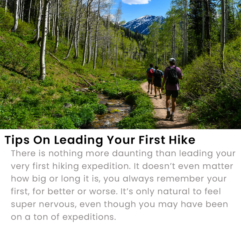 Leading Your First Hike Tips