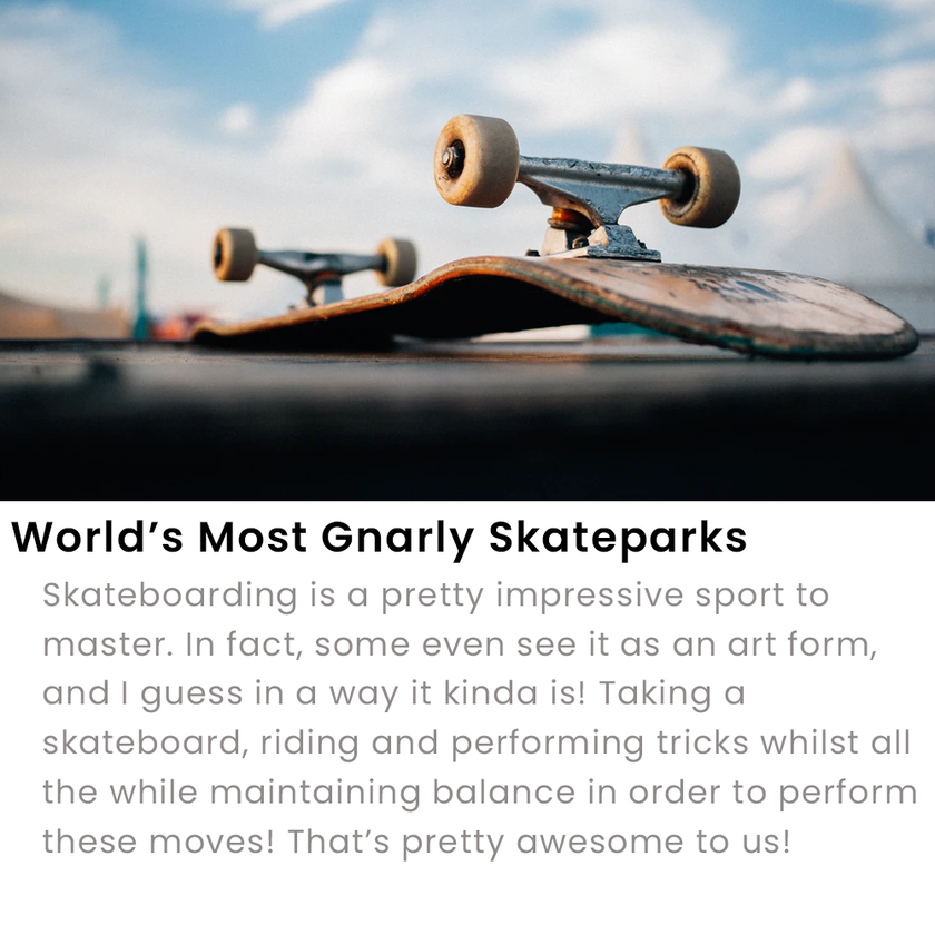 World's Most Gnarly Skateparks