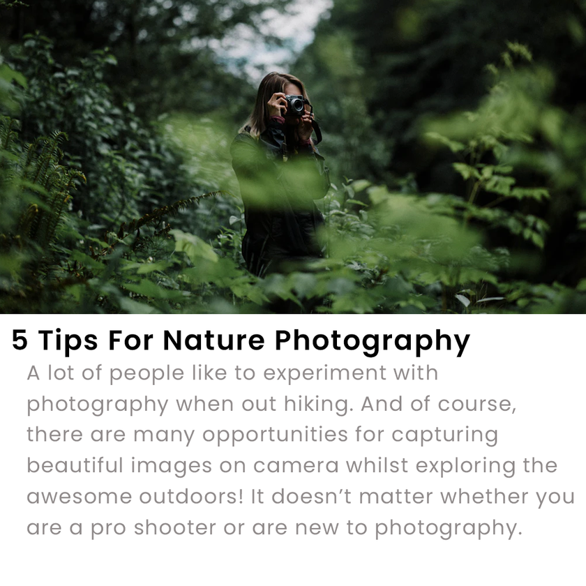5 Tips For Nature Photography