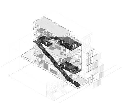 """Infill"" Site Axonometric"