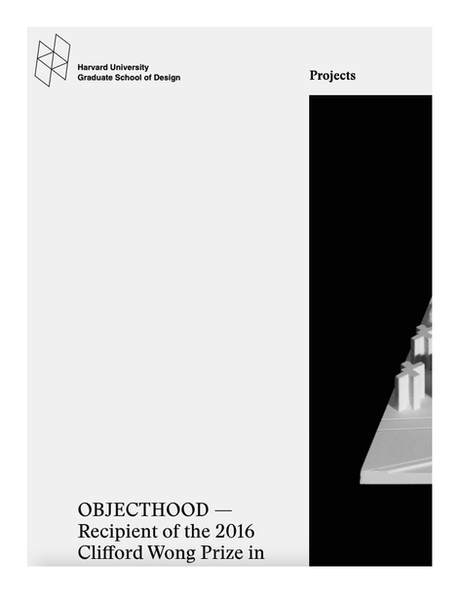 """Project """"Objecthood"""" Won the Harvard GSD 2016 Clifford Wong Prize in Housing Design"""