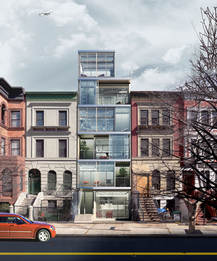 """""""Infill"""" Site Front View"""
