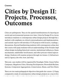 """Liang is to Teach """"Cities by Design II"""" Class at Harvard GSD as A Teaching Fellow"""