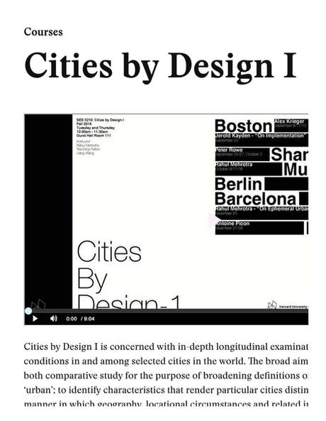 """Liang is to Teach """"Cities by Design I"""" Class at Harvard GSD as A Teaching Fellow"""