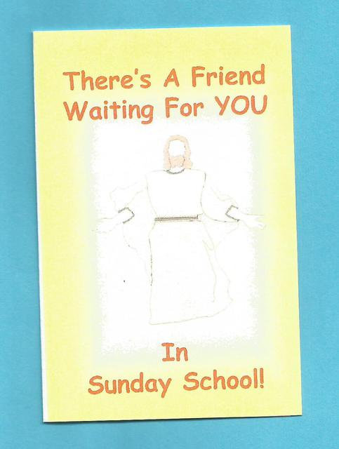 """""""There's A Friend Waiting For You In Sunday School"""" Tract"""