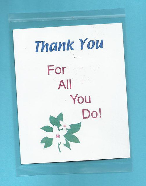 """Thank You For All You Do"" Little Treat Message Packs"