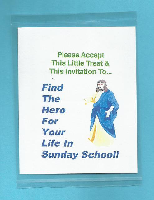 """Find The Hero For Your Life In Sunday School"" Little Treat Message Packs"