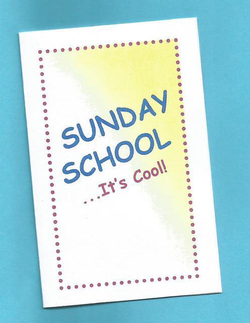 """Sunday School…It's Cool"" Tract"
