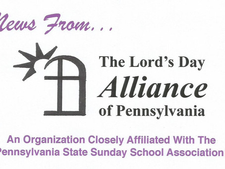 Announcing A New Program To Recognize Businesses That Close On Sunday, The Lord's Day