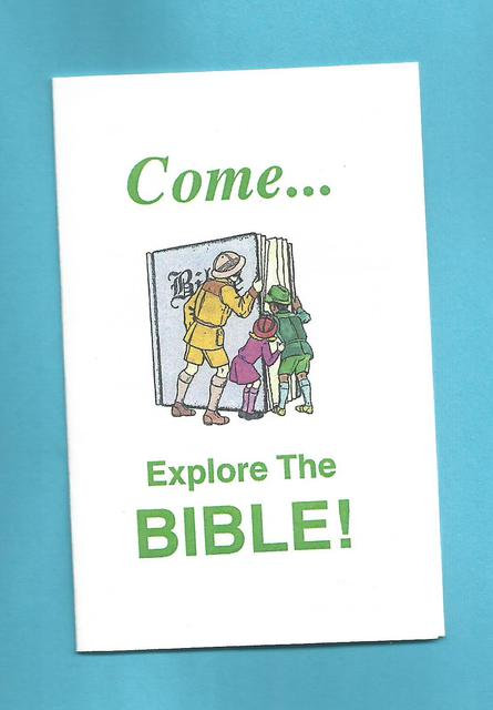 """Come Explore The Bible In Sunday School"" Tract"