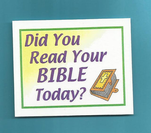 """Did You Read Your Bible Today"" Laminated Card Magnet"