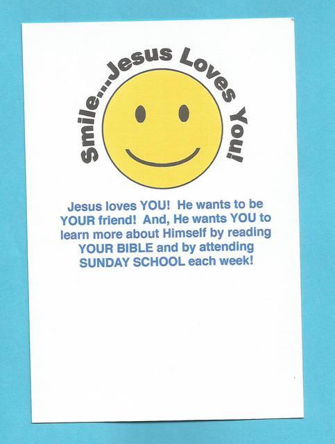 """""""Smile…Jesus Loves You"""" Invitation Postcard"""