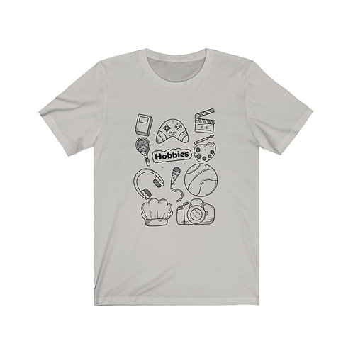 Hobbie Unisex Jersey Short Sleeve Tee You Can Also Color with Markers.