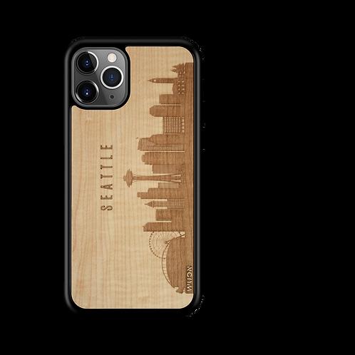 CityScape Wooden Phone Case (Seattle WA Skyline)