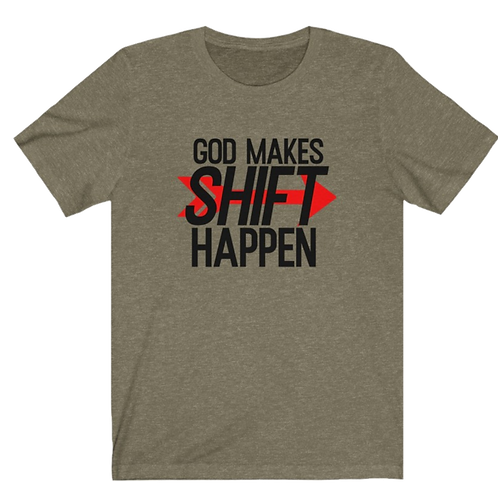 Shift Happen Bella+Canvas 3001 Unisex Jersey Short Sleeve Tee