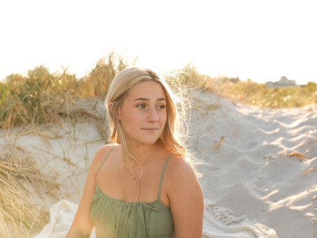 Posing for a Senior Session with Olivia