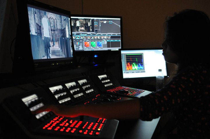 Michelle Carlos color grading using DaVinci Resolve