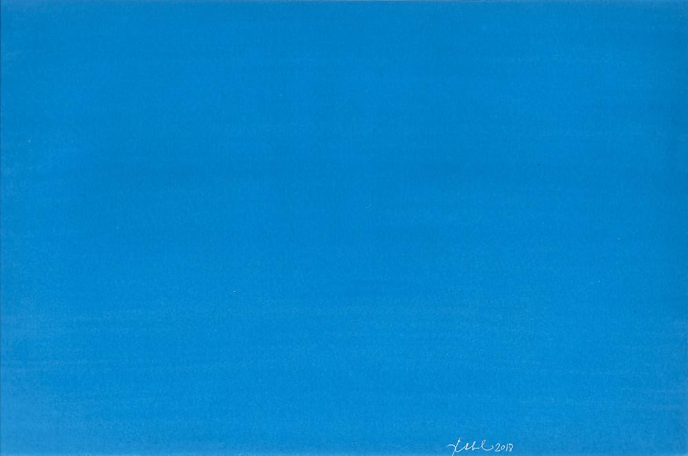 Flat blue painting