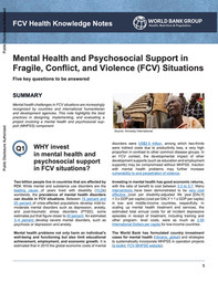 MHPSS in FCV Situations