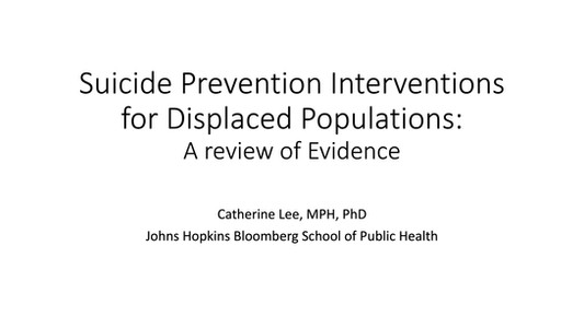 Suicide Prevention_Displacement_JHU