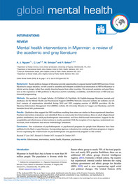 MH Intervention in Myanmar