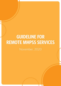 Remote MHPSS Services