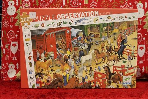 Puzzle d'oservation 200 pcs Equitation