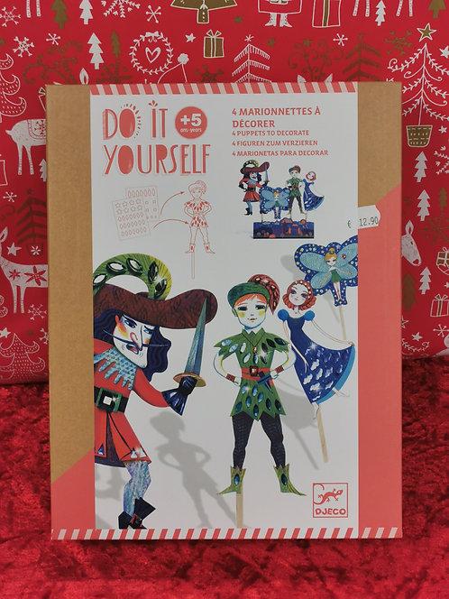 Marionettes à décorer Peter Pan